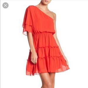 WAYF one shoulder Mini Dress NWT
